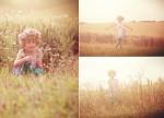 spielendes Mädchen im Feld